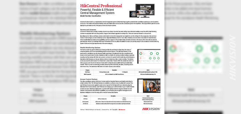 Hikvision HikWire blog article ntral Professional Flyer Online Details the Comprehensive Central Management System
