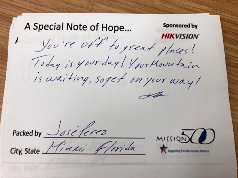 Hikvision HikWire blog article Mission 500 Canada notes of encouragement