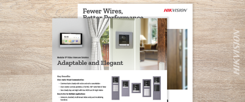 Hikvision HikWire blog article Two-Wire IP Video Intercom Kit